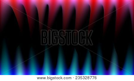 Bright, Abstract, Multicolored, Blue, Red And Pink Magical Rays Of Light Like Fire, Sharp Fangs, Sta