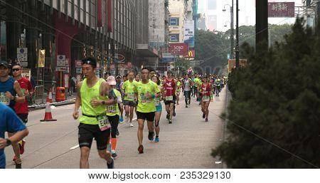 Tsim Sha Tsui, Hong Kong, 21 January 2018:- Hong Kong standard chartered marathon