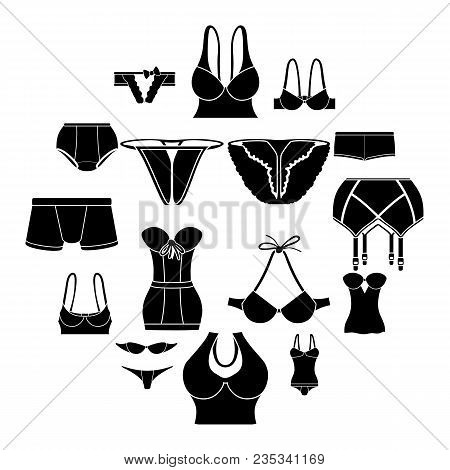 Underwear Icons Set Color. Simple Illustration Of 16 Underwear Vector Icons For Web