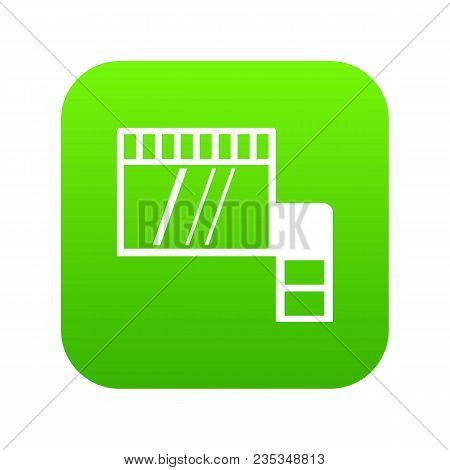 Memory Card Icon Digital Green For Any Design Isolated On White Vector Illustration
