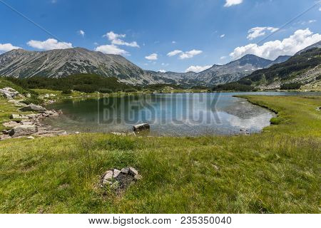 Amazing Landscape With Muratovo Lake, Banderishki Chukar And Todorka Peaks, Pirin Mountain, Bulgaria
