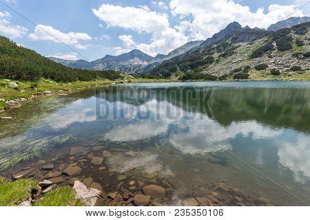 Amazing Landscape With Muratovo Lake And Banderishki Chukar Peak, Pirin Mountain, Bulgaria