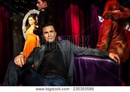 Amsterdam, Netherlands - March, 2017: Wax Figure Of English Singer, Songwriter And Actor Robbie Will