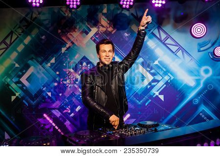 Amsterdam, Netherlands - March, 2017: Wax Figure Of Dutch Dj, Record Producer And Remixer Robbert Va