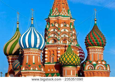 St. Basil's Pokrovsky Cathedral In Moscow