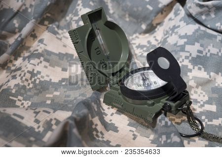 Military Compass And Map Reading Survival Outdoors And Military Theme