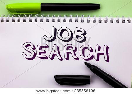 Conceptual Hand Writing Showing Job Search. Business Photo Showcasing Find Career Vacancy Opportunit