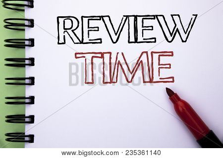 Handwriting Text Review Time. Concept Meaning Evaluating Survey Reviewing Analysis Checkup Inspectio