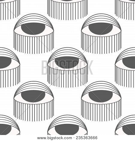 Seamless Pattern In The Style Of Psychedelic Eyes. Closed And Open Eye. The Pattern For The Fabric C