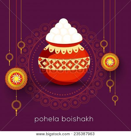 Poster Or Banner Of Bengali New Year Pohela Boishakh Greeting Card Background.