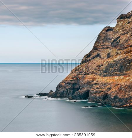 Rocky Coast Of Tenerife, Long Time Exposure