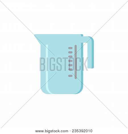 Measuring Cup Flat Icon, Vector Sign, Colorful Pictogram Isolated On White. Water Measuring Jug Symb