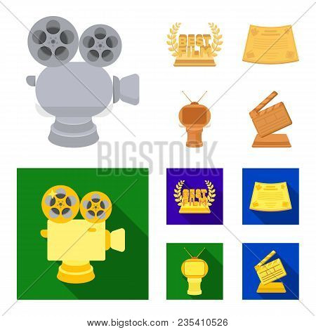 Silver Camera. A Bronze Prize In The Form Of A Tv And Other Types Of Prizes.movie Awards Set Collect