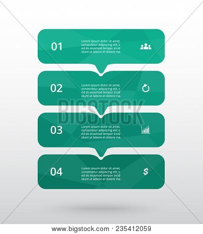 Vector Lines Arrows Infographic. Template For Diagram, Graph, Presentation And Chart. Business Conce