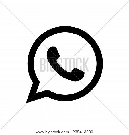 Telephone Icon Vector In Modern Flat Style For Web, Graphic And Mobile Design. Telephone Icon Vector