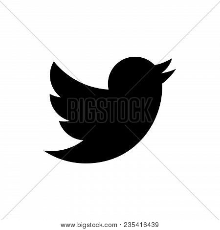 Bird Icon Vector In Modern Flat Style For Web, Graphic And Mobile Design. Bird Icon Vector Isolated