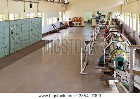 Munnar, India - March 16: Old Tea Factory On March, 16, 2012 In Munnar, India. Oldest Tea Factory In