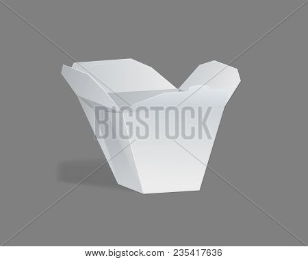 Realistic Template, Mockup Of Gift Paper Packaging, Box Square Shape.