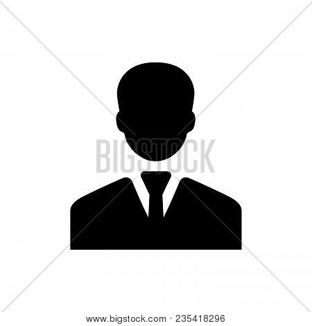 Businessman Icon Vector In Modern Flat Style For Web, Graphic And Mobile Design. Businessman Icon Ve