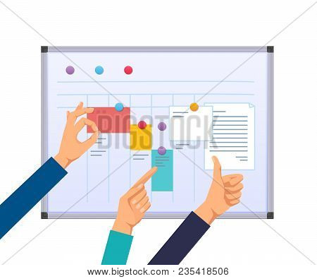 Business Task Planning, Teamwork And Solutions, Multitasking, Business Planning, Time And Work Contr