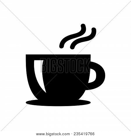 Coffee Tea Cup Icon Isolated On White Background. Coffee Tea Cup Icon Modern Symbol For Graphic And