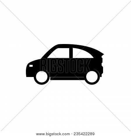 Eco Car Icon Isolated On White Background. Eco Car Icon Modern Symbol For Graphic And Web Design. Ec