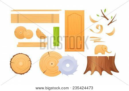Woodworking Industry, Materials For Wood Industry, Set Logs For Timber Industry, Knots, Stumps, Boar