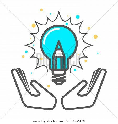 Cherish A Creative Idea - Light Bulb Icon, Invention Concept