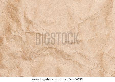 Crumpled Pack Paper Sheet Texture. Wrapping Background