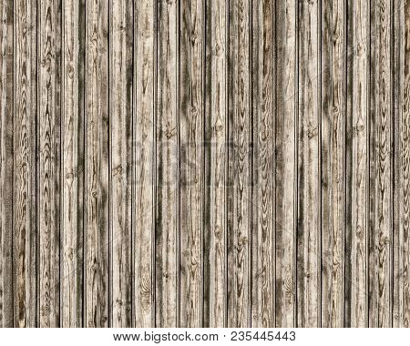 Rustic Texture Of Rough Wooden Boards. Old Knotty Wood Surface Background