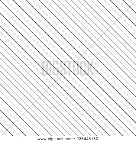 Vector Stripes Seamless Pattern. Thin Diagonal Lines Texture, 45 Degrees Inclination. Simple Striped