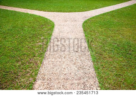 Crossroads, Right Or Left Two Different Direction, Concept Of Choose The Correct Way