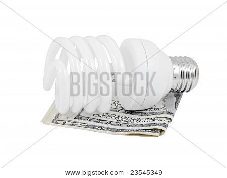 light, bulb, lamp, money, banknote, currency, economy, dollar, finance, financial, conservation, ene