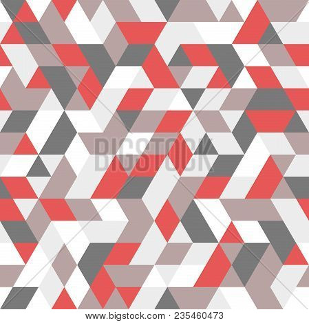 Geometric Vector Pattern With Triangles. Geometric Modern Ornament. Seamless Abstract Background