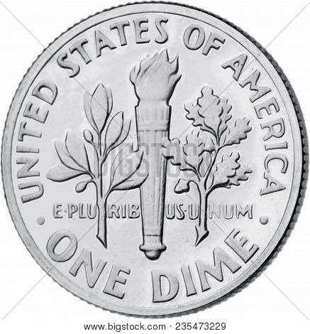 Coin Nickel Dime Penny Isolated Cents Money