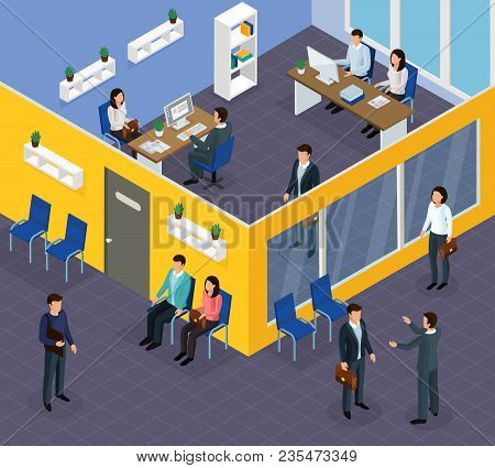 Employment Agency Office Specialists Assisting Job Seekers Finding Work Helping Companies Hire Staff