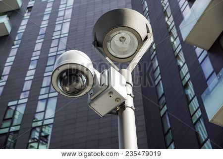 Security Cctv Camera Or Surveillance System In Office Building .