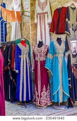Muslim Female Dresses Abaja Presented During Celebrating Islamic Holiday