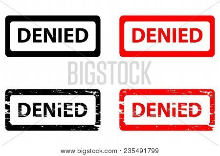 Denied - Rubber Stamp - Vector - Black And Red