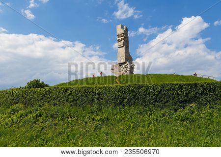 Gdansk, Poland- May 19, 2013: Monument Of The Coast Defenders A Monument In Gdansk, Located On The W