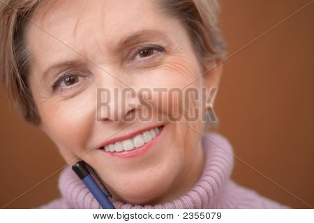 Mature Woman Smiling