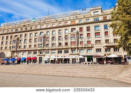 Vitoria-gasteiz, Spain - September 28, 2017: Municipal Savings Bank Of Vitoria Or Caja Vital Kutxa P