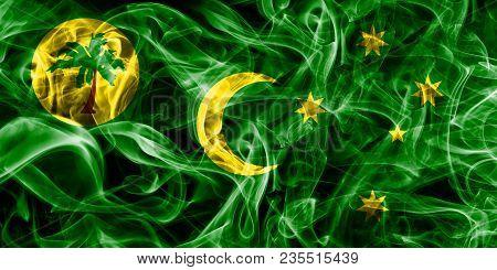 Cocos, Keeling Islands Smoke Flag, Australia Dependent Territory Flag