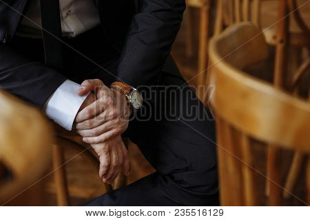 Courageous Hands With The Groom's