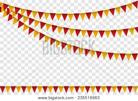 Party Flags, Colorful Flag Set Bunting For Happy Birthday, Celebration Decor, Decoration Elements Ca