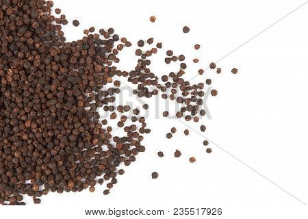 Black Pepper Isolated On A White Background