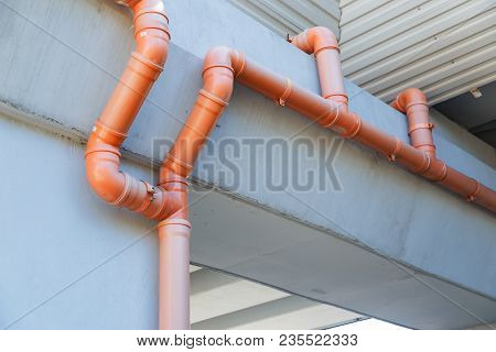 Pvc Drain Pipe System Of The Bridge