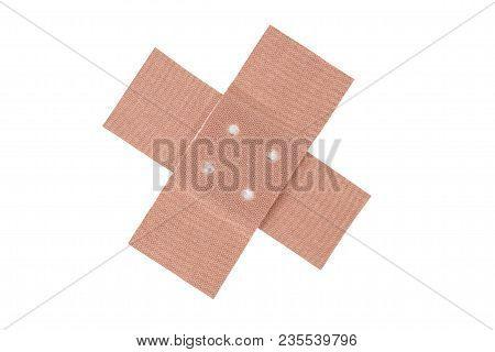 Adhesive Bandage Cross Isolated On White Background