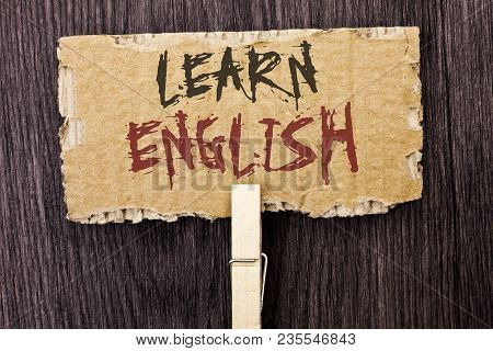 Word Writing Text Learn English. Business Concept For Study Another Language Learn Something Foreign