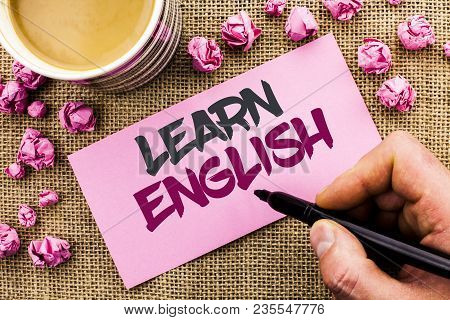 Conceptual Hand Writing Showing Learn English. Business Photo Text Study Another Language Learn Some